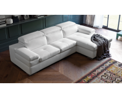 Miro 3 Seater Leather Corner Chaise Sofa