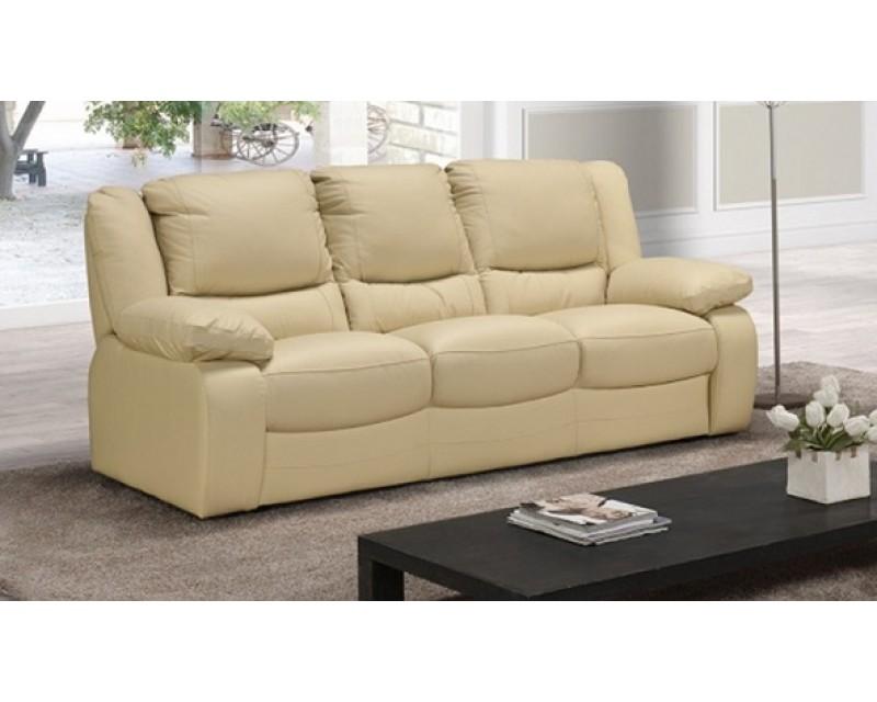 Virginia 3 Seater Italian Leather Sofa