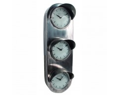 Antique Silver Metal Traffic Light Wall Clock