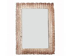 Champagne & Brown Aluminum Wall Mirror