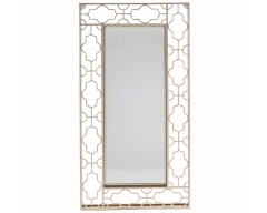 Antique Gold Metal Openwork Design Wall Mirror
