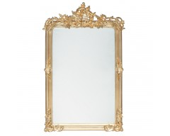 Antique Gold Wood Oblong Wall Mirror