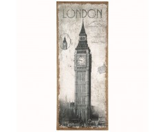London Design Oblong Wall Canvas