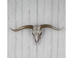 Polyresin Skull & Antlers Wall Decoration