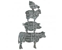 Butchers Cuts Design Wooden Wall Art