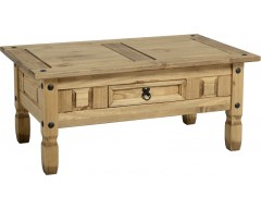 Mexican Deluxe 1 Drawer Coffee Table