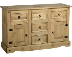 Mexican Deluxe 2 Door / 5 Drawer Sideboard
