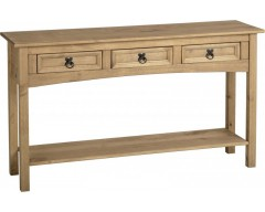 Mexican Deluxe 3 Drawer Console Hall Table