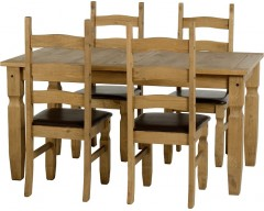 Mexican Deluxe 5ft Dining Set / Brown Pads