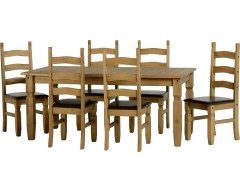 Mexican Deluxe 6ft Dining Set / Brown Pads