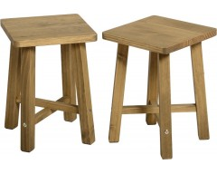 Mexican Deluxe Occasional Stools / Pair
