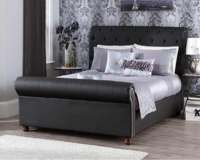 Adeline 4ft6 Faux Leather Bed Frame