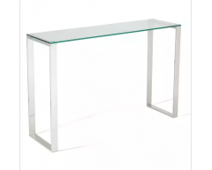 Kai Glass Console Table - Steel