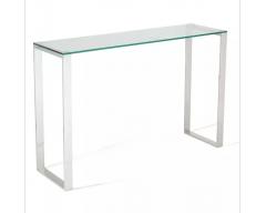 Kai Glass Console Table - Steel
