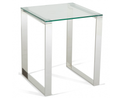 Kai Glass Lamp Table - Steel