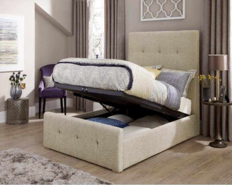 Kathleen 5ft Upholstered Ottoman Bed