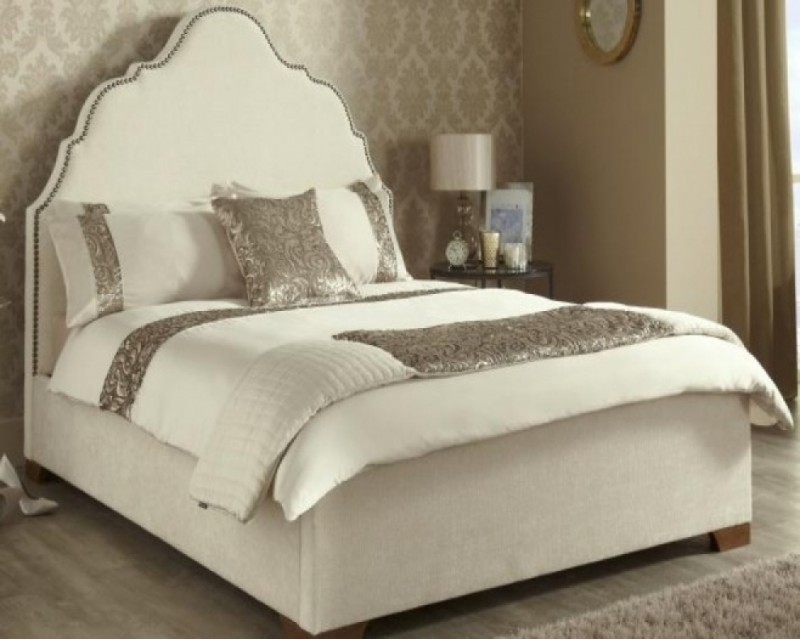 Kimberley Upholstered in Ebony 4ft6 Bed Frame