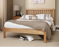 Toulouse 4ft Solid Oak Bed Frame