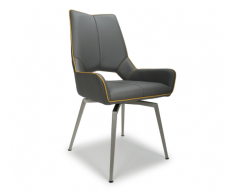 Sarah Swivel Dining Chair in Grey
