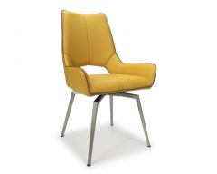 Sarah Swivel Dining Chair in Pumpkin
