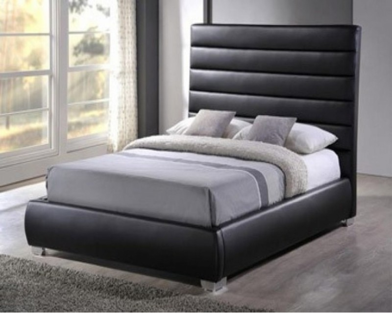 Columbus 4ft6 Faux Leather Bed Frame - Next Day Delivery