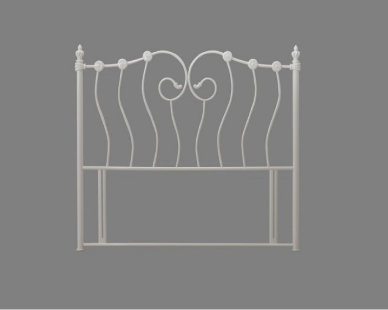 Inca 4ft6 Ivory Headboard - Next Day Delivery