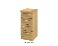 Sheraton 4 Drawer Locker - Colour options available