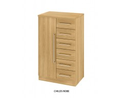 Sheraton Childs 6 Drawer 1 Door Robe - Colour options available