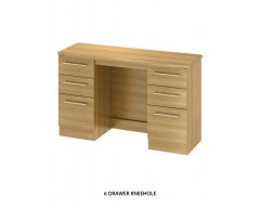 Sheraton 6 Drawer Kneehole - Colour options available