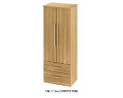 Sheraton 2ft6 2 Drawer Robe - Colour options available