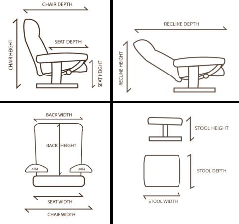 stuttgart leather swivel recliner chair